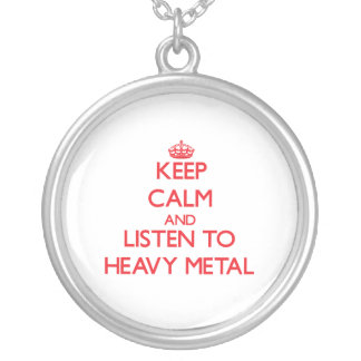 Keep calm and listen to HEAVY METAL Jewelry