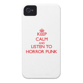 Keep calm and listen to HORROR PUNK iPhone 4 Cases