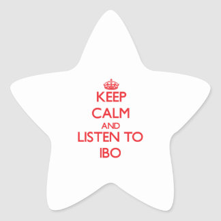 Keep calm and listen to IBO Star Sticker