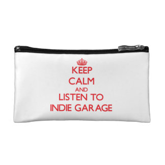 Keep calm and listen to INDIE GARAGE Cosmetic Bag