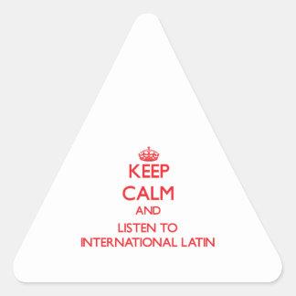 Keep calm and listen to INTERNATIONAL LATIN Sticker