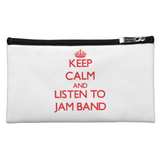 Keep calm and listen to JAM BAND Makeup Bag