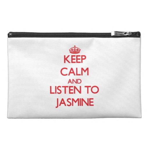Keep Calm and listen to Jasmine Travel Accessory Bag