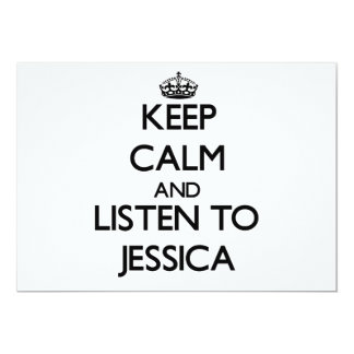 Keep Calm and listen to Jessica Personalized Announcement