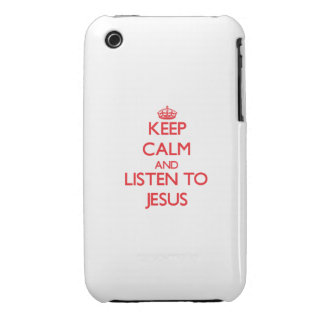 Keep Calm and Listen to Jesus Case-Mate iPhone 3 Case