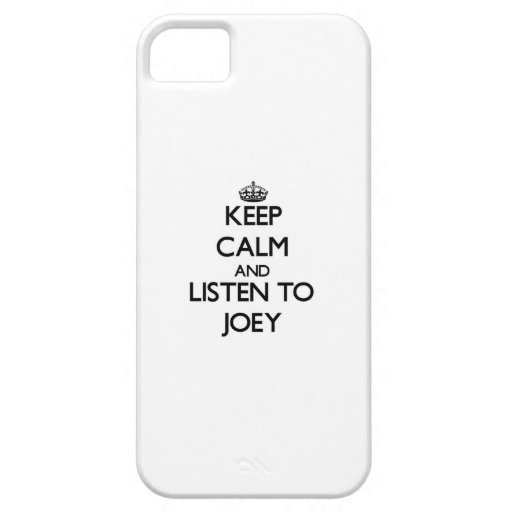 Keep Calm and Listen to Joey iPhone 5/5S Case