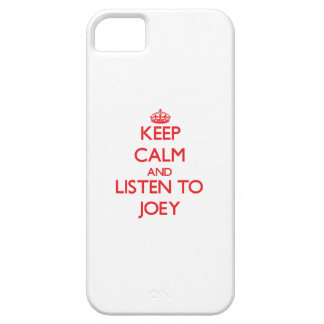 Keep Calm and Listen to Joey iPhone 5 Case