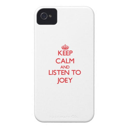 Keep Calm and Listen to Joey iPhone 4 Case
