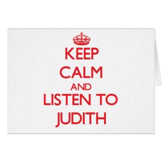 Keep Calm and listen to Judith Card