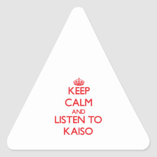 Keep calm and listen to KAISO Stickers