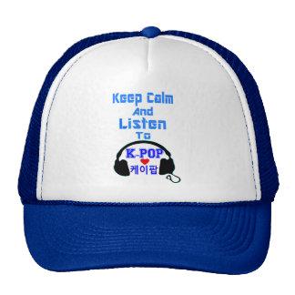 ♪♥Keep Calm and Listen to KPop Trucker Hat♥♫ Cap