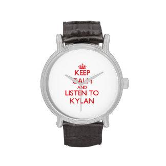 Keep Calm and Listen to Kylan Wrist Watches