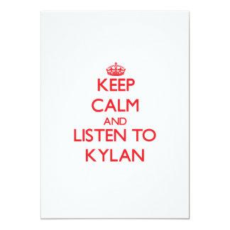 "Keep Calm and Listen to Kylan 5"" X 7"" Invitation Card"