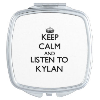Keep Calm and Listen to Kylan Compact Mirror