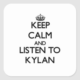 Keep Calm and Listen to Kylan Stickers