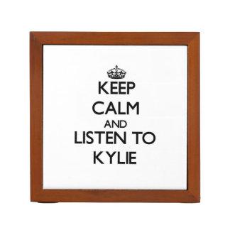 Keep Calm and listen to Kylie Desk Organisers