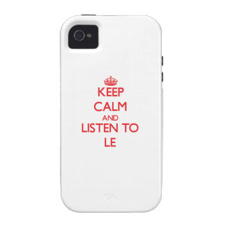 Keep calm and Listen to Le iPhone 4 Covers