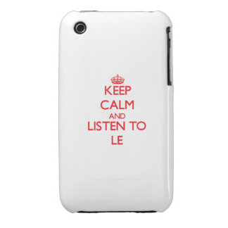 Keep calm and Listen to Le Case-Mate iPhone 3 Case