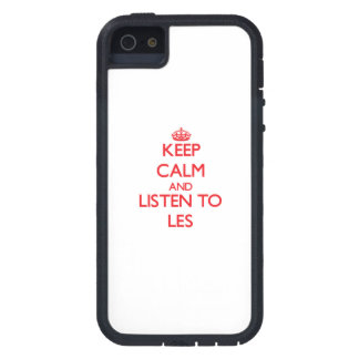 Keep Calm and Listen to Les iPhone 5 Cases