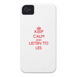 Keep Calm and Listen to Les iPhone 4 Case-Mate Cases