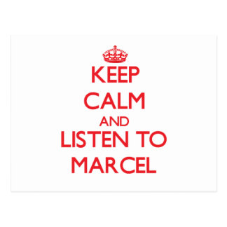 Keep Calm and Listen to Marcel Post Cards