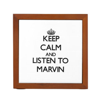 Keep Calm and Listen to Marvin Desk Organizers