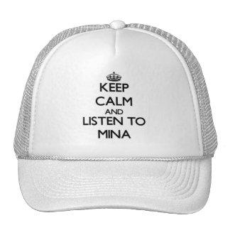 Keep Calm and listen to Mina Trucker Hats