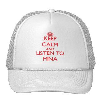Keep Calm and listen to Mina Trucker Hat