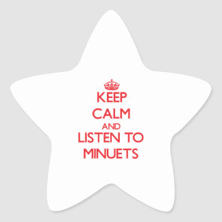 Keep calm and listen to MINUETS Stickers