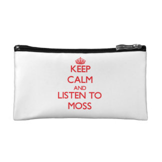 Keep calm and Listen to Moss Cosmetics Bags