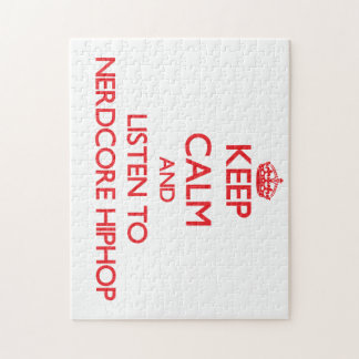 Keep calm and listen to NERDCORE HIPHOP Puzzles