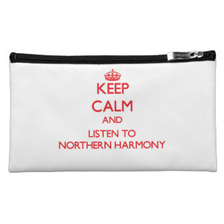 Keep calm and listen to NORTHERN HARMONY Cosmetics Bags