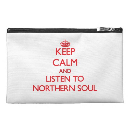 Keep calm and listen to NORTHERN SOUL Travel Accessory Bags