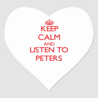 Keep calm and Listen to Peters Stickers