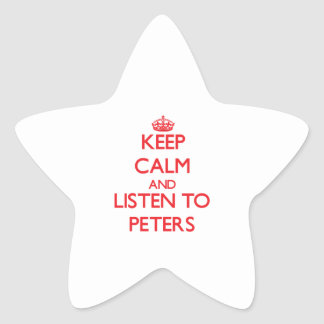Keep calm and Listen to Peters Star Sticker