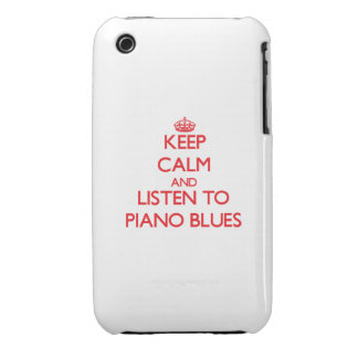 Keep calm and listen to PIANO BLUES iPhone 3 Case