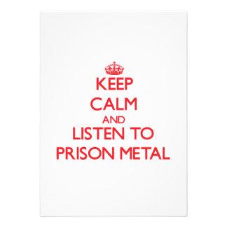 Keep calm and listen to PRISON METAL Custom Invitation