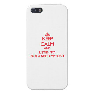 Keep calm and listen to PROGRAM SYMPHONY Cover For iPhone 5/5S