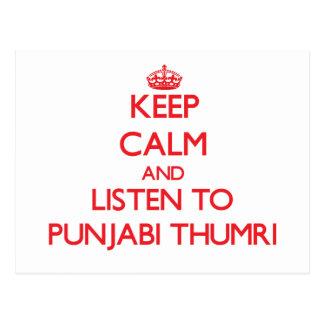 Keep calm and listen to PUNJABI THUMRI Postcards