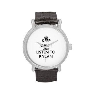Keep Calm and Listen to Rylan Wristwatch