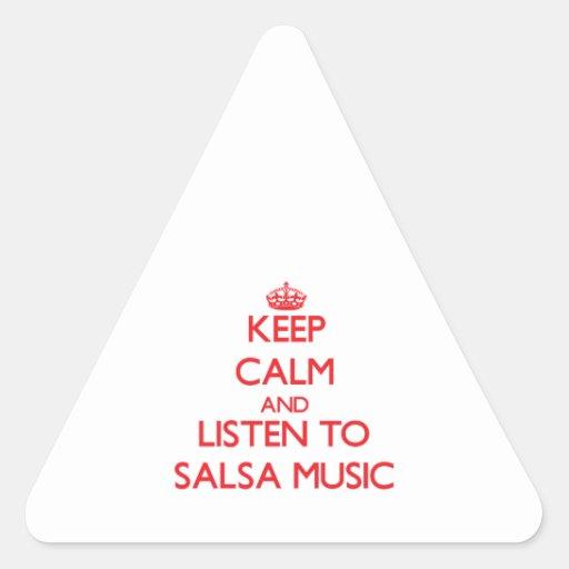 Keep calm and listen to SALSA MUSIC Sticker