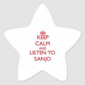 Keep calm and listen to SANJO Sticker
