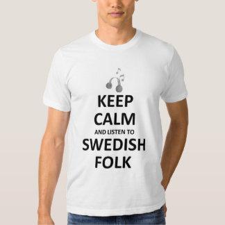 keep calm and listen to scottish folk music t-shirt