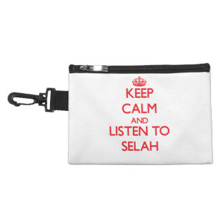 Keep Calm and listen to Selah Accessory Bags
