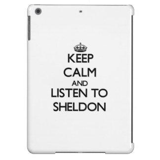 Keep Calm and Listen to Sheldon iPad Air Covers