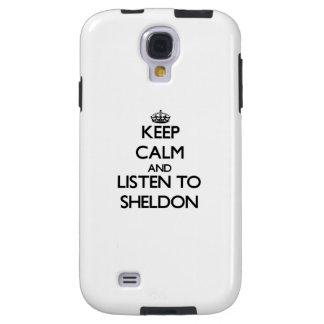 Keep Calm and Listen to Sheldon Galaxy S4 Case