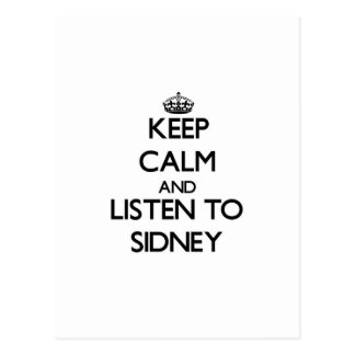 Keep Calm and listen to Sidney Post Cards