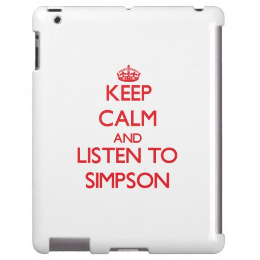 Keep calm and Listen to Simpson