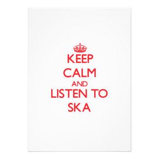 Keep calm and listen to SKA Custom Invite
