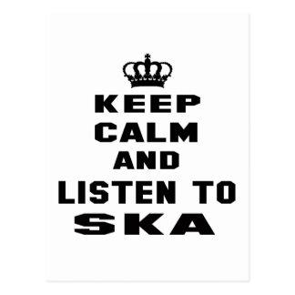 Keep calm and listen to Ska. Postcard